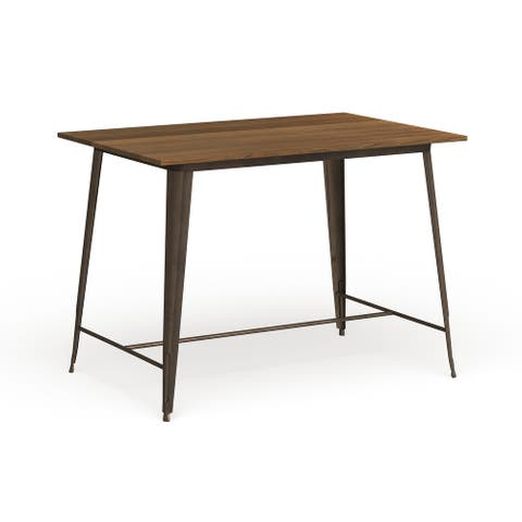 Furniture of America Rish Industrial Brown 54-inch Counter Dining Table