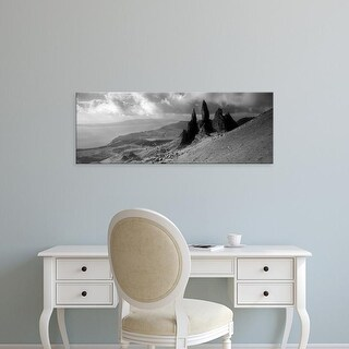 Easy Art Prints Panoramic Image 'Rock formations on hill, Old Man of Storr, Isle of Skye, Scotland' Premium Canvas Art