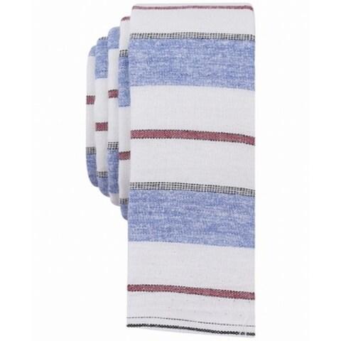Penguin Blue Red White Garratt Horizontal Striped Neck Tie Cotton