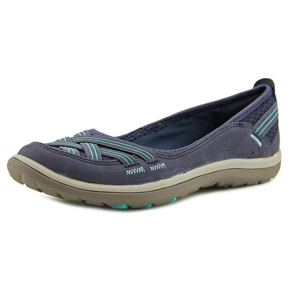 11053e4dd3f4 Shop Clarks Aria Pump Women W Round Toe Leather Blue Flats - Free ...