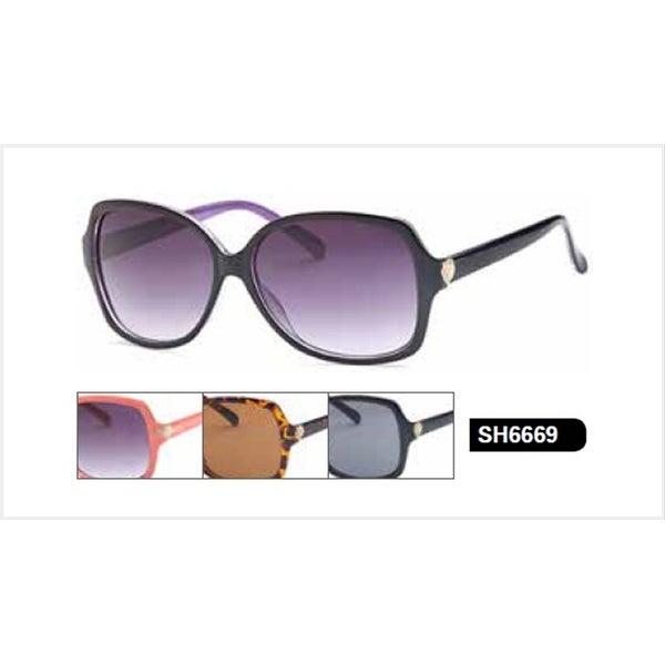West Coast Womens Heart Sunglasses