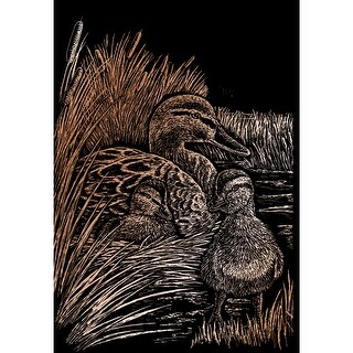 """Copper Foil Engraving Art Kit 8""""X10""""-Ducks"""