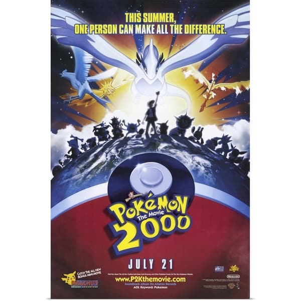 Shop Pokemon The Movie 2000 The Power Of One 2000 Poster Print