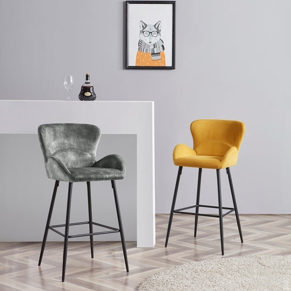 Corvus Lomax Contemporary Upholstered Bar Stools (Set of 2). Opens flyout.