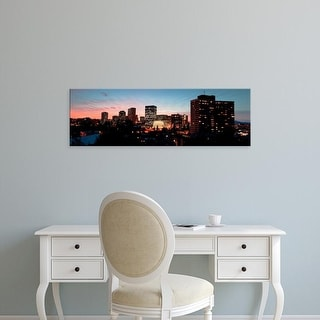 Easy Art Prints Panoramic Images's 'Skyline at dusk, Oakland, California, USA' Premium Canvas Art