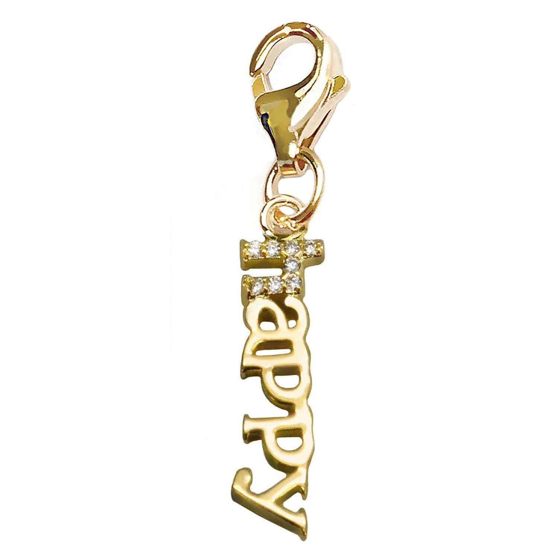 Julieta Jewelry 'Happy' Handwriting Clip-On Charm - Thumbnail 0