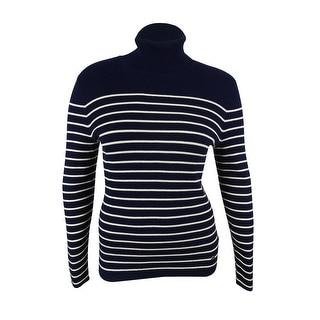 Ralph Lauren Women's Striped Turtleneck Sweater