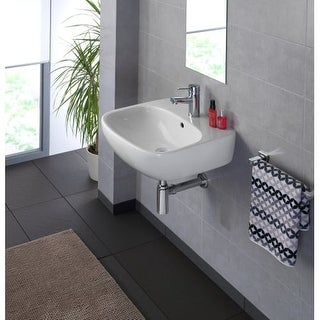 "Bissonnet Moda 50 Moda 19-11/16"" Vitreous China Wall Mounted Bathroom Sink with"
