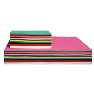 School Specialty Foam Sheet, 5-1/2 X 8-1/2 in, Assorted Color, Pack of 40