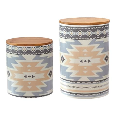 HiEnd Accents 2 PC Desert Sage Canister Set - N/A