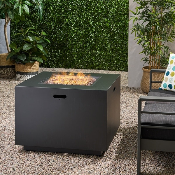 Wellington Square Fire Pit with Lava Rocks by Christopher Knight Home. Opens flyout.