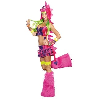 Sexy Dino-D-Licious Neon Rave Costume Adult