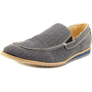 GBX Flix Men Moc Toe Canvas Blue Loafer