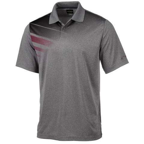 Greg Norman Mens Montrose Rugby Polo Shirt, Grey, Small
