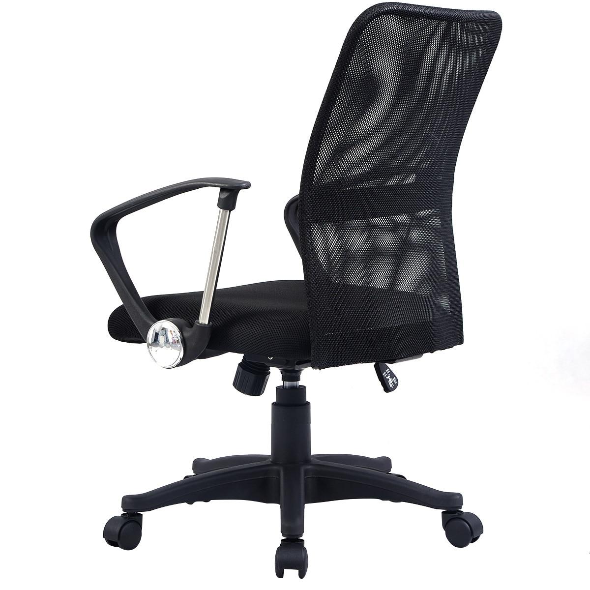 Modern Mesh Mid Back Office Chair Computer Desk Task Ergonomic Swivel Black New