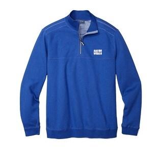 Tommy Bahama Blue Mens Medium M Colts NFL Flip Half Zip Sweater