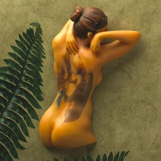 FAIRY MAIDEN TATTOOED WOMAN DESIGN TOSCANO tatooed woman tatooed nude nude