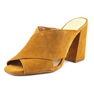 Vince Camuto Jevan Women Round Toe Leather Brown Mules