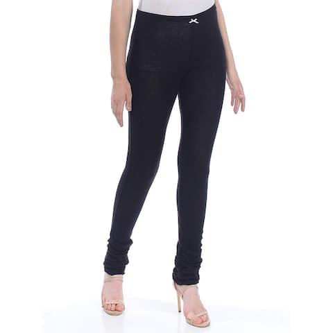 Free People Womens Leggings Black Size Large L Stretch Lou-Lou Thermal
