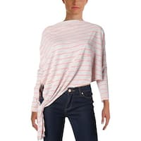 Free People Womens Casual Top Striped Asymmetric