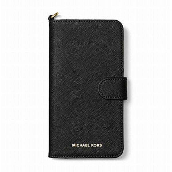 Michael Kors NEW Black Saffiano Iphone 7 Plus Folio Phone Case Wallet
