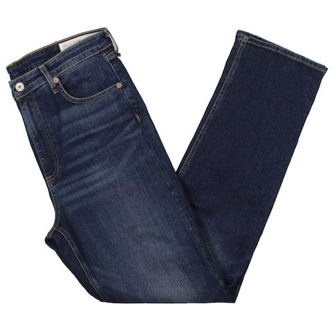 Rag & Bone Womens Nina Straight Leg Jeans Cigarette High Rise - Blue - 31
