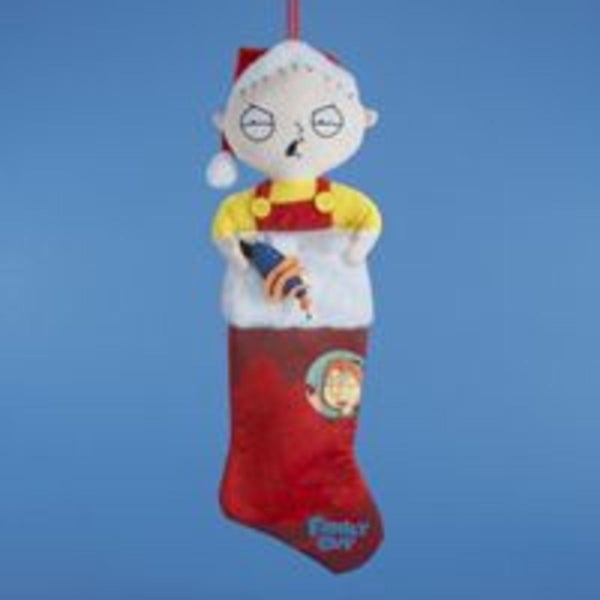 "24"" Family Guy Stewie Character Plush Red Christmas Stocking"