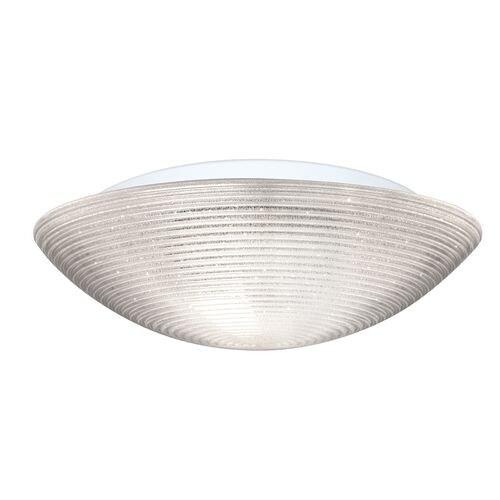 Besa Lighting 9116GLC Glitter 3 Light Flush Mount Ceiling Fixture with Glitter Shade