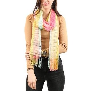 Missoni Yellow Dip Dye Knit Scarf - 26-88