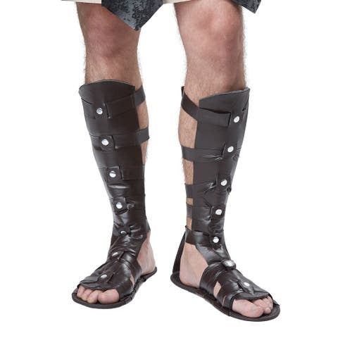 Mens Gladiator Sandals Halloween Costume Accessory - Standard - One Size