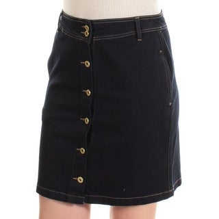 TOMMY HILFIGER $70 Womens New 1049 Navy Above The Knee A-Line Casual Skirt 6 B+B