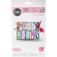 Sizzix Framelits Die Set 3PK - 662255 Merry ChXXXXXXXs Drop-ins Card