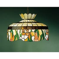 "Meyda Tiffany 26578 1-Light 20"" Wide Pendant with Handmade Shade - tiffany glass - n/a"
