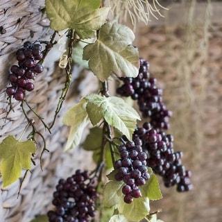 "RusticReach Artificial Purple Grape Fruit Stems 45"" Tall"