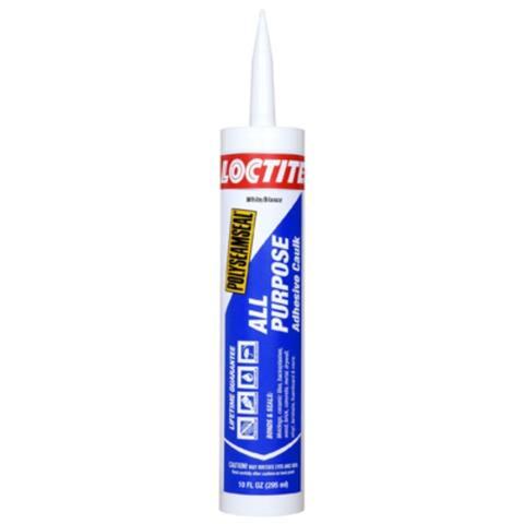 Loctite 2154751 Polyseamseal All Purpose Adhesive Caulk, White, 10 Oz