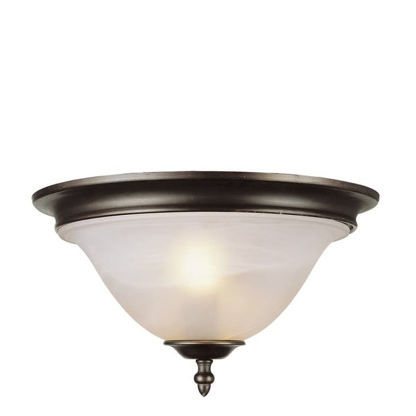 Trans Globe Lighting 6390-1 2 Light Flushmount Ceiling Fixture from the New Century Collection