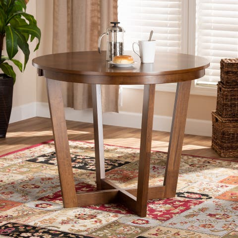 Alayna Modern and Contemporary 35-Inch-Wide Round Dining Table