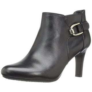 Bandolino Womens Layita Leather Closed Toe Ankle Fashion Boots