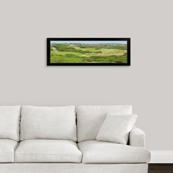 """""""Golf course on the northern end of the island, Aruba"""" Black Framed Print"""