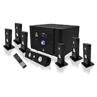 """PYLE Audio PYLPT798SBAB 7.1 Channel Home Theater System with Satellite Speakers and Bluetooth"""