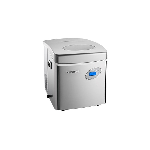 EdgeStar IP250 17 Inch Wide 2.6 Lbs. Capacity Portable Ice Maker With 48  Lbs.