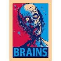 Zombie Brains Tin Sign, Modern | Pop Art by NMR Calendars