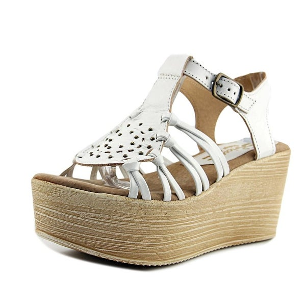 Sbicca Jarrah Women Open Toe Synthetic White Platform Sandal