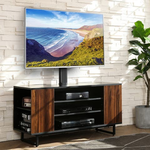 FITUEYES Mid Century Modern Swivel Floor TV Stand for 32 to 70 Inch TVS - 70INCH