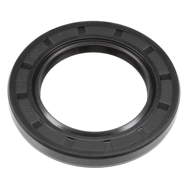 Oil Seal, TC 40mm x 62mm x 7mm, Nitrile Rubber Cover Double Lip - 40mmx62mmx7mm