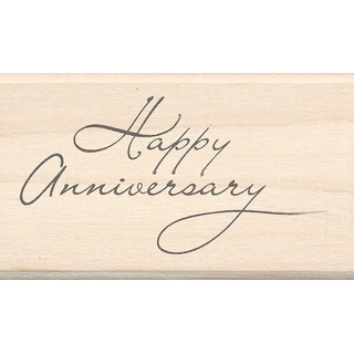 "Inkadinkado Mounted Rubber Stamp 1.75""X2.5""-Happy Anniversary - happy anniversary"