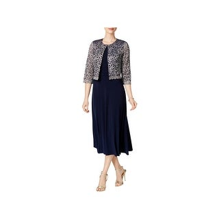 Jessica Howard Womens Dress With Jacket Ruched Sleeveless - 4