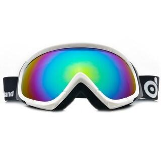 ODOLAND Anti-Fog Ski Goggles Snowboard Goggles for Unisex Adult w/ Double Spherical Lens White