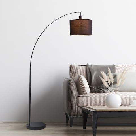 """Archiology Modern 71"""" Arched Floor Lamp - Black"""
