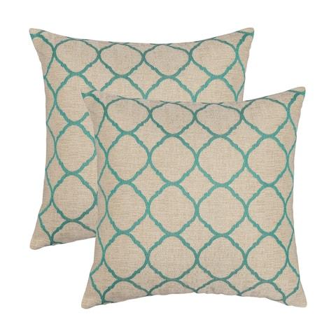 Austin Horn Classics Sunbrella Accord Jade 18-inch Pillow (Set of 2)